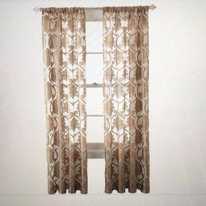 Royal Velvet Rod pocket Sheer curtain panels